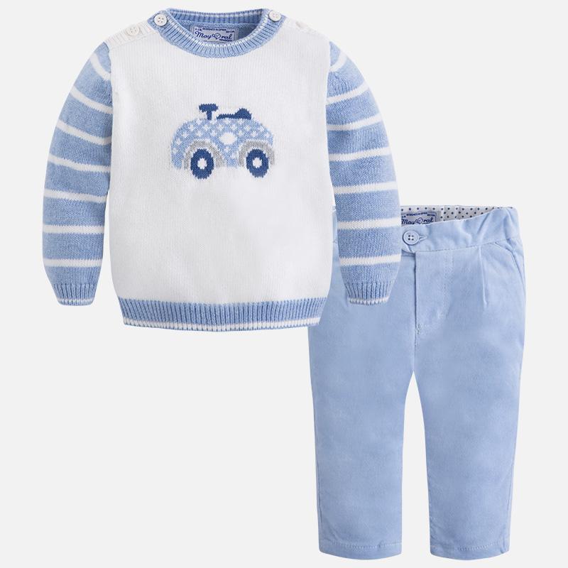 35509cb2e Conjunto para bebé niño de pantalón largo y jersey M.2533 Mayoral ...